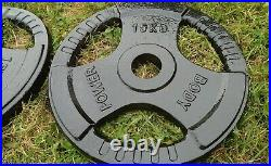 Olympic Weights plates Gym Equipment cast iron bench press 2 barbell bar 15 30
