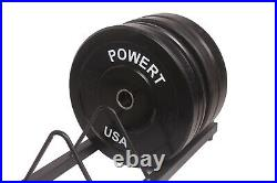 POWERT 2 Inch Bumper Barbell Plates 2 Olympic Bar Plates-in Pair