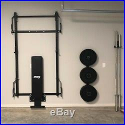 PRx PROFILE SQUAT RACK Folding Gym Exercise Cage with Pull Up Kipping Bar
