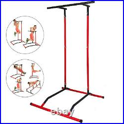 Portable Pull Up Dip Station Power Tower Gym Bar Stretch Workout Multi Function