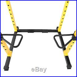 Power Cage Squat Rack 1000 lb Home Gym Dip Bars Body Weightlifting HulkFit New