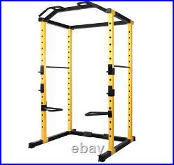 Power Cage Squat Rack Home Gym Total Body Weightlifting Training Dip Bar HulkFit