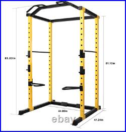 Power Cage Squat Rack Lat Pull 1000 lb Home Gym Dip Bars Body Weightlifting