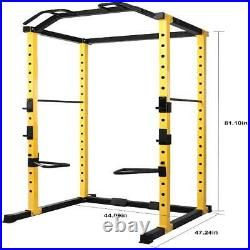 Power Cage Squat Rack Lat Pull 1000 lb Home Gym Dip Bars Body Weightlifting GAIN