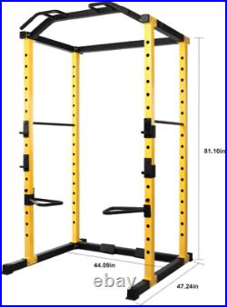Power Cage Squat Rack Lat Pull 1000 lb Home Gym Dip Bars Body Weightlifting NEW