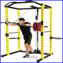 Power Cage Squat Weightlifting Fitness Home Gym Equipment 1000 Lb Dip Bars Body