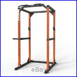 Power Rack Power Cage Home Equipment Exercise Stand + Multi-Grip Bar Dip Handle
