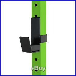 Power Squat Rack Pull Up Bar Weightlifting Bodybuilding Crossfit Home Gym Green