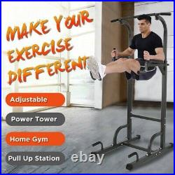 Power Tower Dip Station Pull Up Bar for Home Gym Strength Training Workout Equip