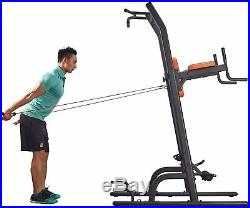 Power Tower Pull Up Bar Dip Station Weight Bench VKR Chin Ups Multifunction Set