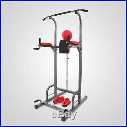 Power Tower Pull Up Station Chin Up Bar Boxing Stand Fitness Workout Strength US