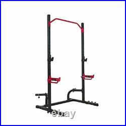 Power Zone Squat Stand Rack Power Cage Olympic Weight Storage Pull Up Bar 800LB