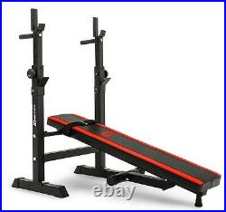 Pro Set 59 kg Weights and Bodybuilding Bars with a Folding Bench. Gym at Home