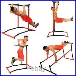 Pull Up Bar Free-Standing Dip Station, Portable Power Tower Home Sport Equipment