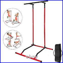 Pull Up Dip Station Portable Power Tower Chin Up Bar Free-Standing Fitness WithBag