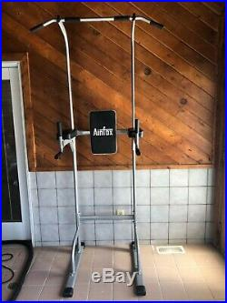 Pull Up Power Tower Dip Station Home Gym Bar Stretch Machine Exercise Equipment