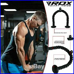 RDX Arm Tricep Rope Push Up Pull Down Press Bar Gym Cable Attachment Exercise US