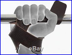 RDX Padded Leather Straps Weight Lifting Training Gym Bar Wrist Support Glove CA