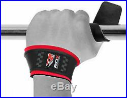 RDX Padded Leather Straps Weight Lifting Training Gym Bar Wrist Support Gloves U