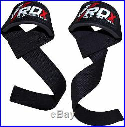 RDX Padded Weight Lifting Training Gym Strap Hand Bar Wrist Support Glove Wrap C