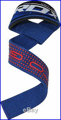 RDX Padded Weight Lifting Training Gym Straps Wrist Support Gloves Grip Bar B CA