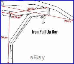 RDX Punching Bag Bracket Chin Pull Up Bar Wall Steel Mount Gym Chinning Hanging