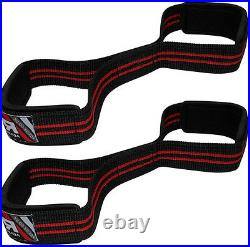 RDX Weight Lifting Wrist Straps Figure 8 Padded Cuff Gym Support Hand Bar Grips