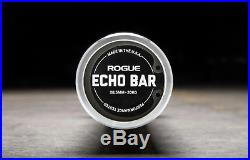 ROGUE FITNESS ECHO BAR 2.0 20kg 44 lbs 28.5mm Olympic size 2 barbell