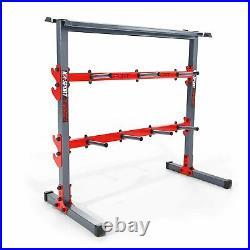 Rack for Plates & Bars & Dumbbells Weights Storage Rack Stand Holder Home Gym