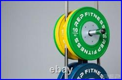 Rep Fitness Olympic Weights Bumper Plate & Bar Storage Tree 850lb capacity