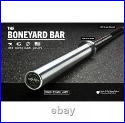 Rogue Boneyard Barbell Ohio Bar Black Zinc Bright 1.2 Olympic NEW FAST SHIP