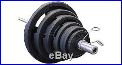 Rubber Grip 300 lb. Olympic Weight Set with Bar and Collars Troy Barbell VTX NEW