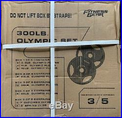 SHIPS TODAY! 300lb Olympic Barbell Set Bar With Weights Bench Press LAST ONE