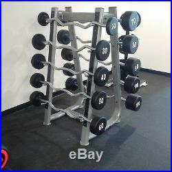 SPARTAN Urethane Barbell Set 20-110 lbs set - EZ Curl Bar