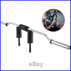 Safety Squat Olympic Bar 86 Fits 2 Olympic Plates Workouts 700LBS Fitness Home