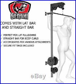 Senshi Japan Wall Mounted Cable Machine Lat Bar Crossover DIY Multi Gym Home