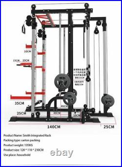 Smith Machine Parallel Bar Multifunctional Barbell Rack Weightlifting Bench
