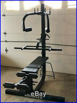 Soloflex Complete Gym Butterfly, Leg Ext, Lever Arm, Dip Bar, 400 lbs in bands