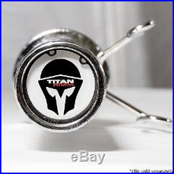 Titan Fitness Olympic Bar, Bench Press Barbell, Chrome, 700 lbs. Capacity, 86