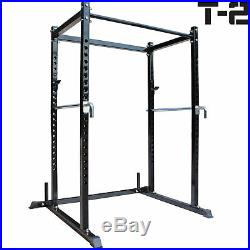 Titan T-2 Series Short Power Rack withDip Bars Lift Cage Bench pull up