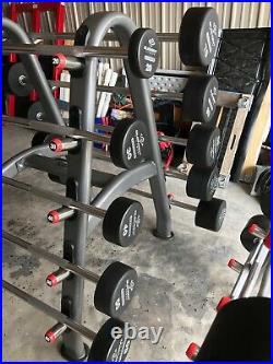Urethane fixed Barbell Straight Bar 20 LB-110LB set