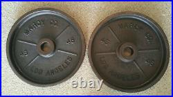 Vintage Marcy Co Los Angeles Olympic Weights and Bar Set Excellent Condition