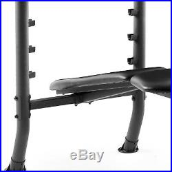 WEIGHT BENCH SET With Bar and Weights 100 lb Lifting Exercise Home Gym Training