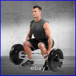WEIGHT LIFT BAR HEX Dumbbell Gym Squat Train Muscle Trap Deadlift Shrug Barbell