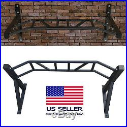 Wall Mounted Heavy Duty Chin Pull Up Bar Gym Workout Fitness Training Pro Mount