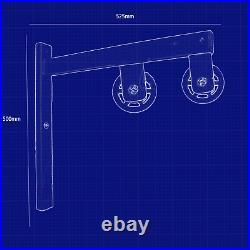 Wall Mounted Lat Pull Down System With Heavy Duty Lat Bar