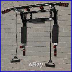 Wall Mounted Pull Up Bar Pullup Mount Chin Bars Dip Station Push Power Tower