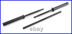 Weider 7' Foot Olympic Barbell with Clips 3 Piece Bar For 2 Weight Plates Black