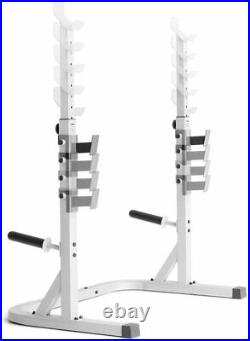 Weider Platinum Olympic Squat Weight Rack Stands Spotters and Bar Holds 310 lb