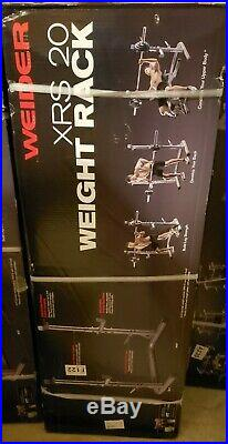 Weider XRS 20 Olympic Squat Rack Adjustable Safety Spotters Bar Hold WEBE20615